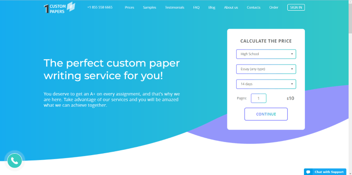 1custompapers.com Review