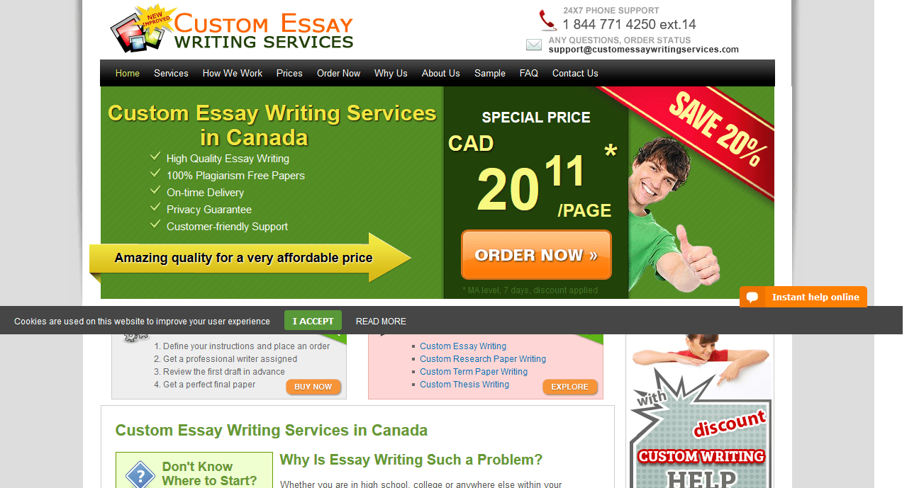 Essay writing services in canada