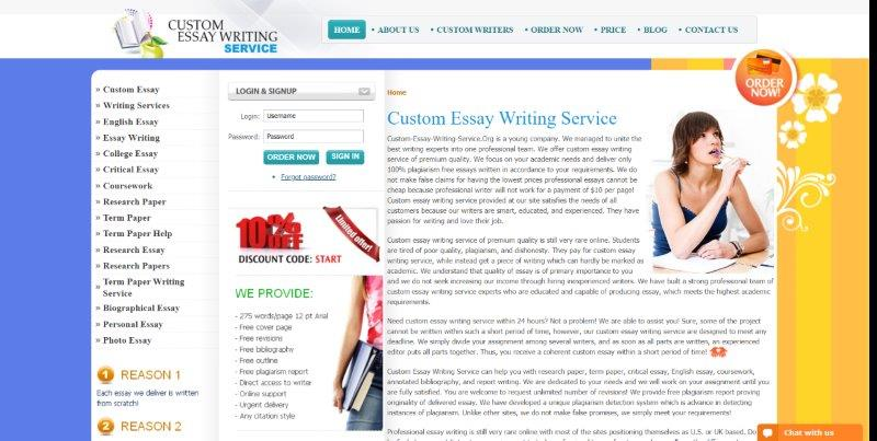 Custom essay writing service org