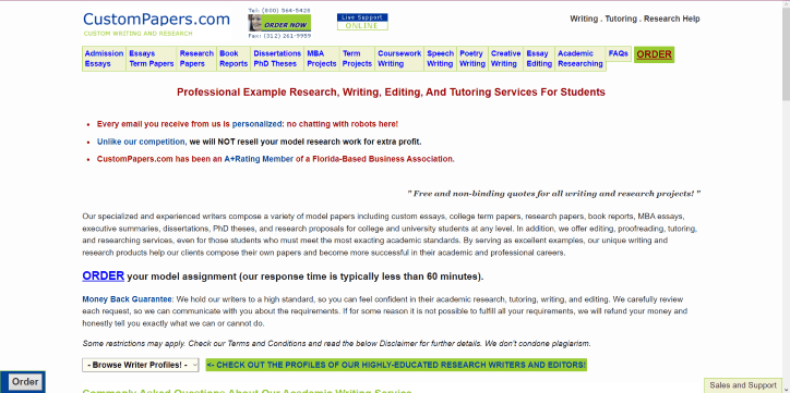 custom term paper writing website for mba