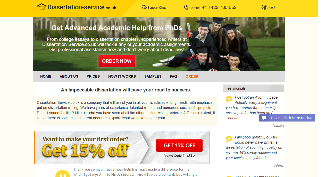 Dissertation services in uk first