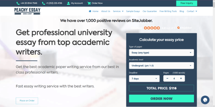 peachyessay.com Review