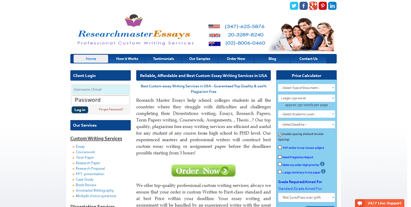 researchmasteressays.com Review