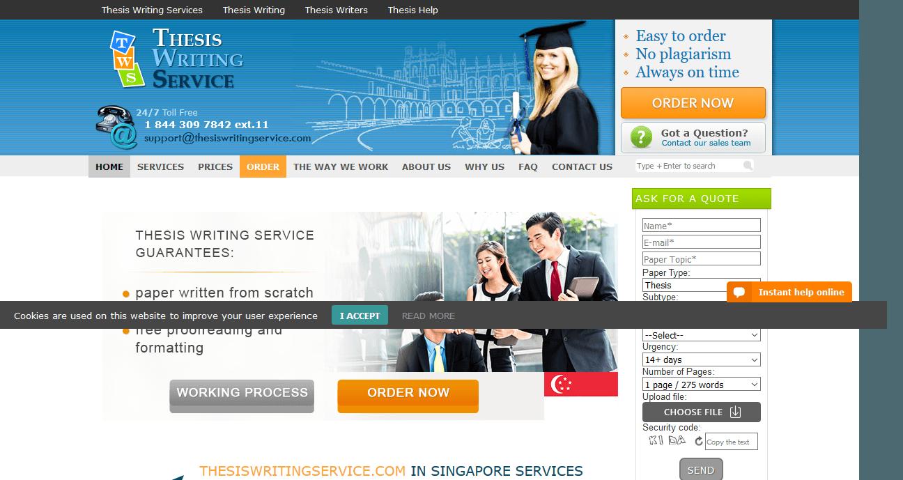 Thesis writing service singapore